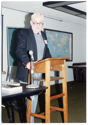 Low-input Sustainable Agriculture seminar: unidentified man speaking at seminar