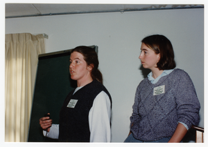 Low-input Sustainable Agriculture seminar: Enid Wonnacott (NOFA VT) and Margaret Christie (NOFA MA), l. to r.