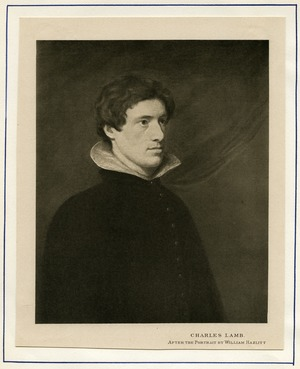 Print of Charles Lamb after a portrait by William Hazlitt