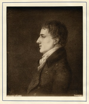 Print of Charles Lamb after the portrait by Robert Hancock