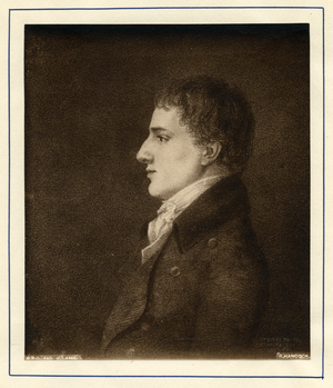 Print of Charles Lamb after the portrait by Robert Hancock, linking to the digital object