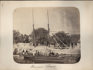 Hamlet's Ghost, Sourabaya [Surabaya], Java [Boat with Passengers and Crew], linking to the digital object