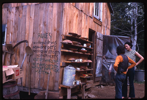 Johnson Pasture Commune: 'Rules: No illegal drugs, no more pets, no soap in stream, no picknicers, visitors welcome, no minors overnight without parents okay, use trench', linking to the digital object
