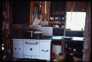 Johnson Pasture Commune: Kitchen at Johnson Pasture, linking to the digital object