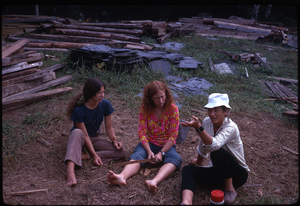 Johnson Pasture Commune: three women, linking to the digital object