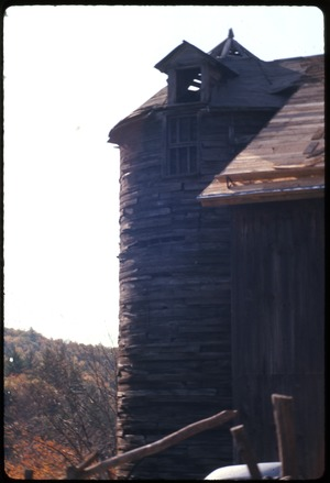 Montague Farm: Silo on barn, Montague