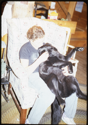 Wendell Farm: Nina and black lab, linking to the digital object