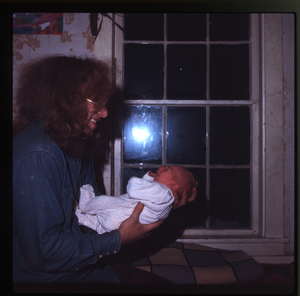 Montague Farm: Chuck Light and baby (Eben), Montague