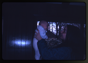 Montague Farm: Unidentified woman holding baby (Eben), linking to the digital object