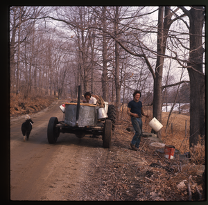 Montague Farm: Sugaring: collecting sap., linking to the digital object