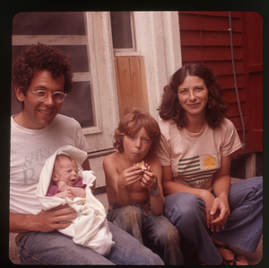 Montague Farm: Dan Keller, Nina Keller, Eben Light, and baby