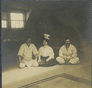 [Prof. Yamashita, Mrs. Yamashita, unidentified American]