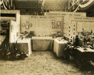 Massachusetts Agricultural College: Physical and Biological Sciences booth