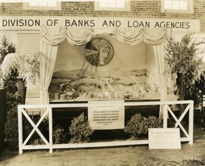 Division of Banks and Loan Agencies booth: close-up