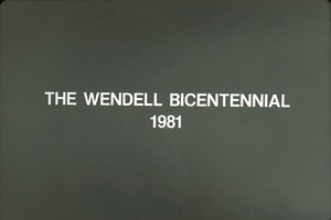 Wendell (Mass.) Bicentennial Celebration slide show: The Wendell Bicentennial 1981