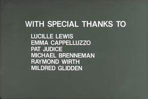 Wendell (Mass.) Bicentennial Celebration slide show: credits for Lucille Lewis, Emma Cappelluzzo, Pat Judice, Michael Benneman, Raymond Wirth, Mildred Glidden