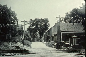 Railroad crossing, Wendell Depot, Mass.