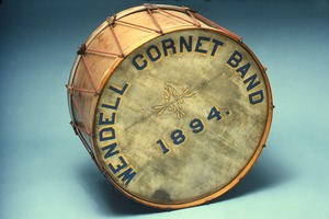 Wendell Cornet Band bass drum, 1894