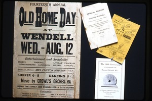 Old Home Day ephemera, Wendell, Mass.