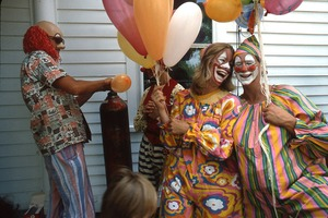 Wendell (Mass.) Bicentennial Celebration: clowns inflating balloons