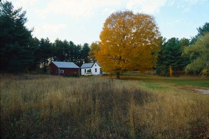 Wendell (Mass.) Bicentennial Celebration: view of a house across a field, tree turning gold