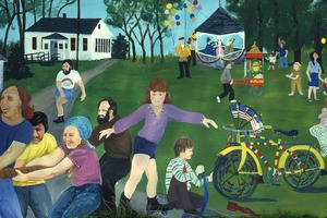 Wendell (Mass.) Bicentennial Celebration: mural depicting town life