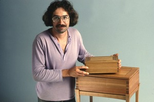 Wendell (Mass.) Bicentennial Celebration: woodworker with boxes