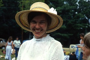 Wendell (Mass.) Bicentennial Celebration: portrait of a young woman in a straw hat