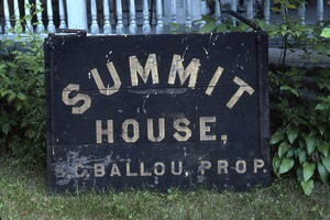 Wendell (Mass.) Bicentennial Celebration: Old sign for Summit House