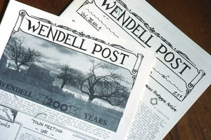 Wendell (Mass.) Bicentennial Celebration: issues of the Wendell Post