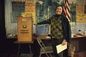 Wendell (Mass.) Bicentennial Celebration: ballot box, Wendell Town Hall