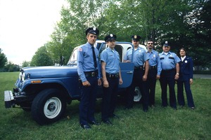 Wendell (Mass.) Bicentennial Celebration: Police Department standing by vehicle