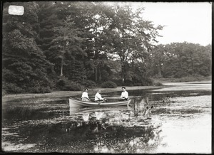 Boating on a pond (Greenwich, Mass.)