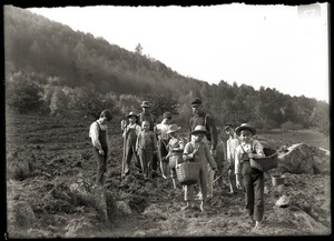 Boys working in a field (Greenwich, Mass.)
