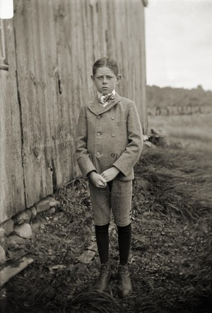 Young boy in good suit (Greenwich, Mass.)