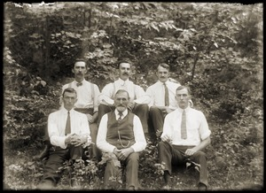 Group portrait of six men (Greenwich, Mass.)