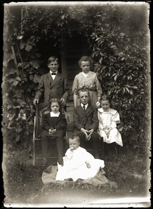 Portrait of six children (Greenwich, Mass.)