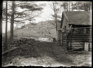 Wood-cutting camp (Greenwich, Mass.)