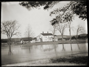 Flooding in front of Brooks-Fewell House (Greenwich, Mass.)