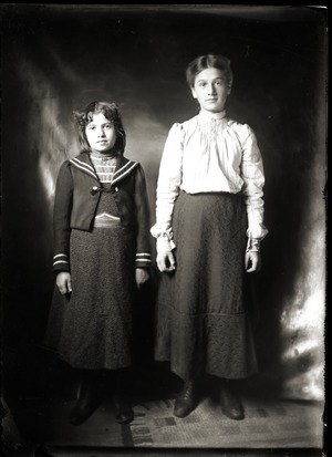 Portrait of two girls (Greenwich, Mass.)