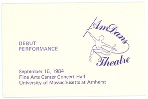 First page of AmDans Theatre debut performance card