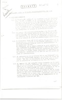 First page of Report: political and economic situation