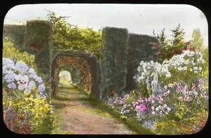 First page of English garden painting, by Elgood