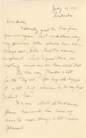 First page of Letter from Abraham Ozersky to Ruth Newman