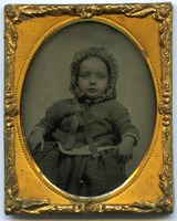 First page of Edward Channing: half-length portrait of Harvard historian as an infant, seated