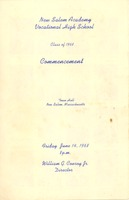 First page of Program for the 1968 New Salem Academy Vocational High School commencement