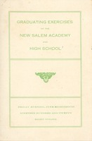 First page of Program for the 1920 graduation exercises at New Salem Academy and high school