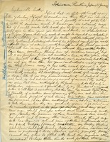 First page of Letter from Benjamin Smith Lyman, Ichinosawa, Shinsh?, Japan             to Mr. Lesley