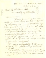 First page of Letter from Alvin Borgquist to W. E. B. Du Bois