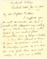 First page of Letter from James W. Crook to W. E. B. Du Bois